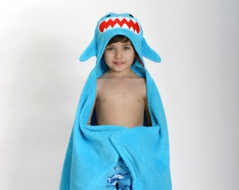 Hooded Towel, Shark Hooded Towel, Personalized Hooded Towel, Animal Hooded Towel, Kids Hooded Towel, Shark Towel, Beach Hooded Towel