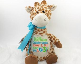 Personalized Giraffe Etsy
