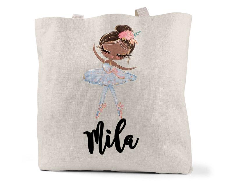 Ballet Tote Bag Shopping Bag Little Girl Bag Ballet Bag Personalized Book Bag Personalized Tote Bag Child Tote Bag School Bag