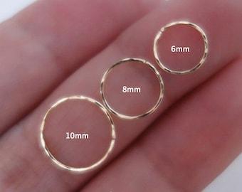 Hammered Nose Ring Etsy