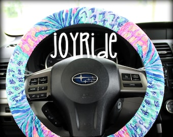 e97c775f Steering Wheel Cover Lilly Pulitzer Gypset Paradise Pineapple Fabric Fully  lined with Grip Tight Designer Car Accessories For Girls Woman