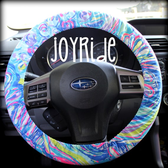Remarkable Steering Wheel Cover Lilly Pulitzer Multi Gillty Pleasure Fabric Fully Lined With Grip Tight Designer Car Accessories Coral For Girls Woman Alphanode Cool Chair Designs And Ideas Alphanodeonline