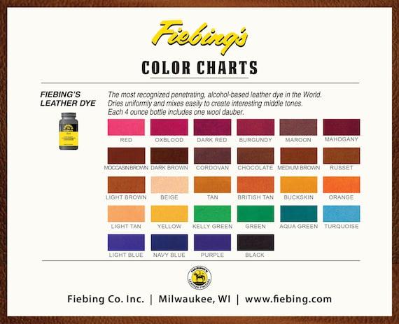 Leather Dye Fiebings 4oz 118ml All 29 Etsy