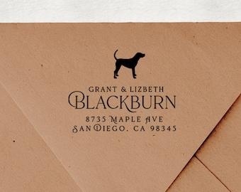Dog Owner Gift Lhasa Apso Return Address Stamp Custom Rubber Stamp Wooden Handle