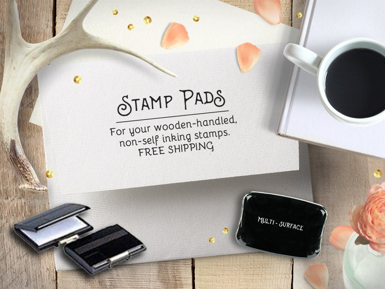 Tandem Bike Stamp for Wedding or Housewarming Gift Newlywed Gift for New Couples Self Inking or Wooden Handle
