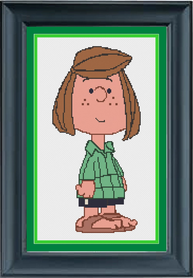 Peppermint Patty - Snoopy - Peanuts - Counted Cross Stitch Patterm -  Pattern Only (PDF Download)