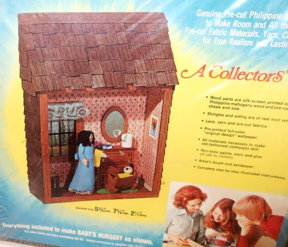 Children/'s Books Dollhouse Books Wooden Doll House Accessories Leaflet Nursery