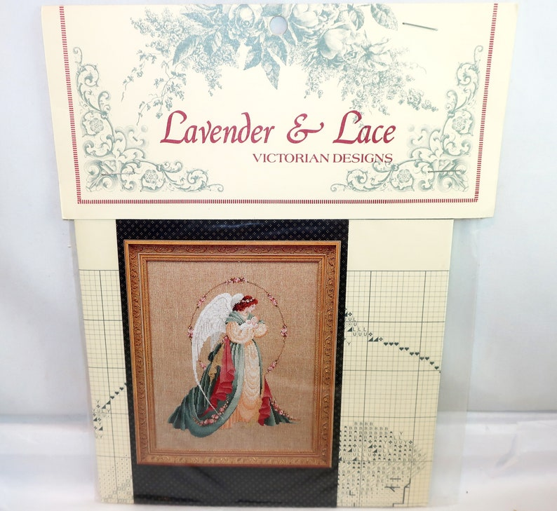 "COMPLETE CROSS STITCH MATERIALS /""GUARDIAN ANGEL/"" BY Lavender and Lace"