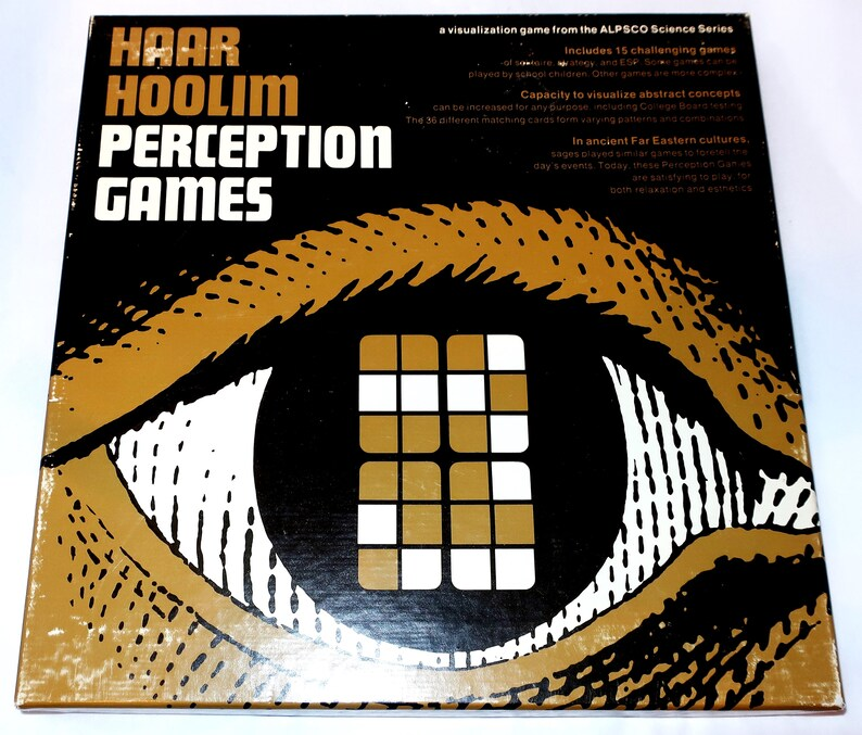 Vintage 1968 Haar Hoolim PERCEPTION GAMES An ALPSCO Design Visualization  Card Game Science Series Abstract Concepts Gift Complete Excellent