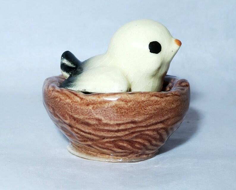 Hagen Renaker miniature made in America Snowy Owl Baby retired