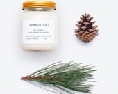 Cedar + Pine Scented Candle — Hopscotch Candle — Home Decor Soy Candle — Perfect Gift for Her, Wedding Gift, Gift for Mum or Thank You Gift