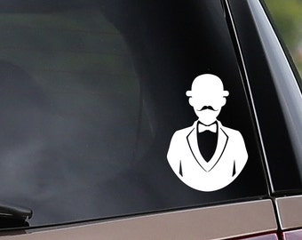 Vinyl Car Decal - Hercule Poirot Inspired - Detective - Sleuth - Mystery 915bd805c5a