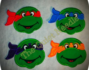 "Michelangelo Patch Teenage Mutant Ninja Turtles Embroidery Applique 3.00 X 2.75/"""