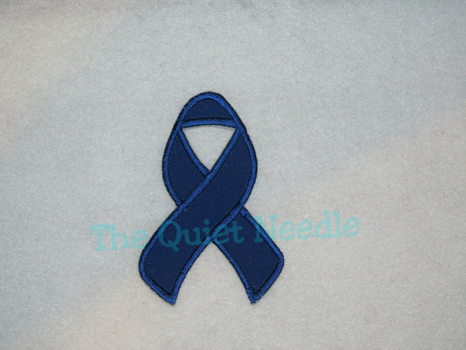 Blue Colon Cancer Awareness Ribbon Iron On Applique Patch Etsy
