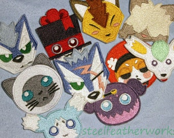 READY TO SHIP Tales of Mascots Embroidered Patches (Choose One or Four)