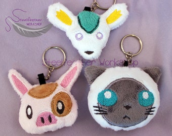 Tales of Mascot Soft Plush Keychain (Choose One) Made to Order