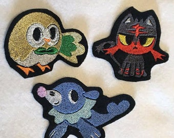 Alola Starter Patches (Choose One) Made to Order