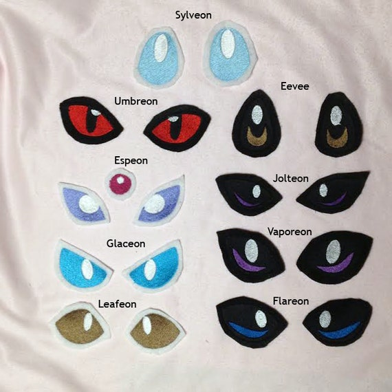 Eevolution Embroidered Eye Patch Applique Sets Choose one or | Etsy