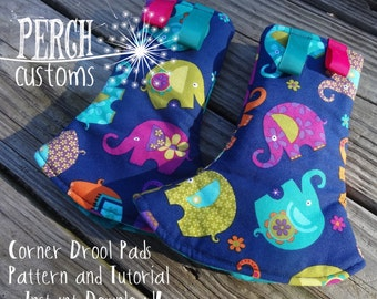 Tula Corner drool pads Pattern and Tutorial for Tula and other SSC DIGITAL DOWNLOAD