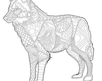 Coloring Book Wolf PDF