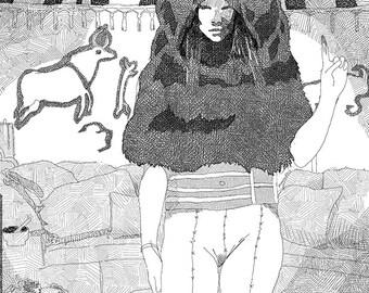Bear Woman PDF Print