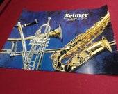 Conn Selmer Saxophone Trumpet Trombone Flute Clarinet Bach Poster 22 quot x 17 quot Band Orchestra