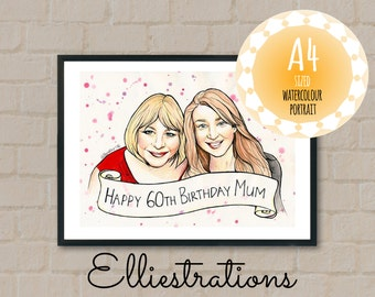 A4 Custom Watercolour Portrait - From Your Own Image