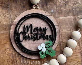 Personalized Christmas Ornament, Custom Stocking Tag