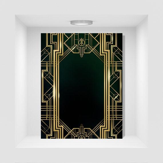 great gatsby background digital flyer  u0026 psd 8 5x11inches
