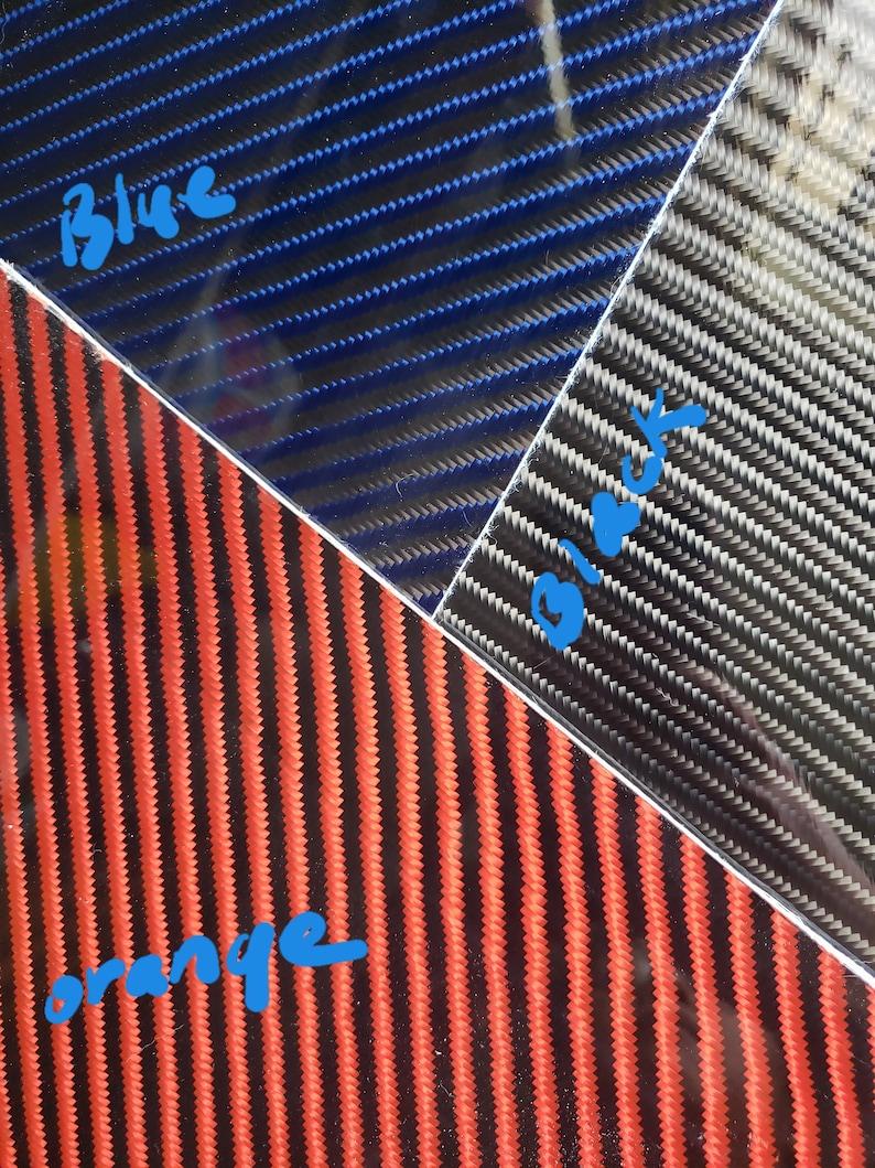 316-14 24x24 4x4 Twill Carbon Fiber Kevlar Hybrid Fiberglass Panel Plate Board Sheet Glossy One Side