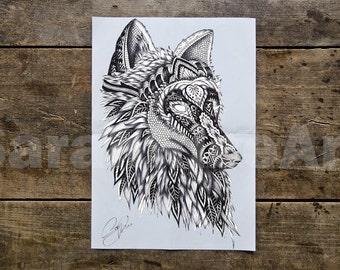 Wolf poster - Wolf Print - Wolf Art - Wolf - white wolf - wolf decor - Animal Poster - Animal Print - wolf room decor
