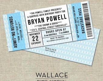 Concert Ticket | Birthday Invitation (Digital Copy)