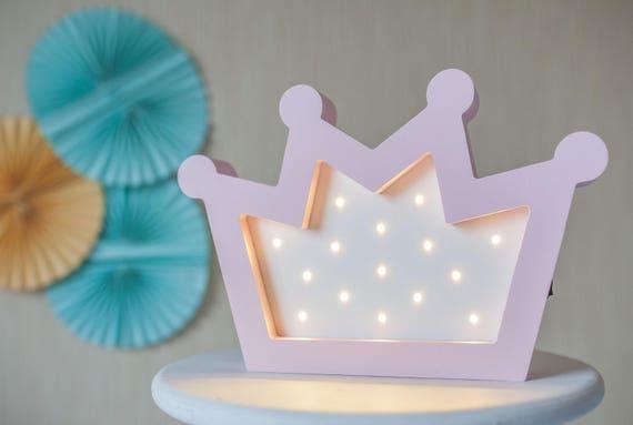 Lamp Kinderkamer Prinses : Cadeau voor kinderen roze kroon kroon lamp baby meisje etsy