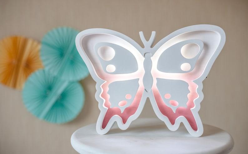 Schmetterling LED Nacht Licht Kinder Lampe Kinderzimmer Baby   Etsy