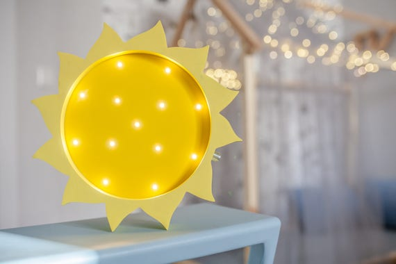 Sun Lamp Sun Light Sun Night Light Baby Room Nursery Night Etsy New Etsy Baby Room