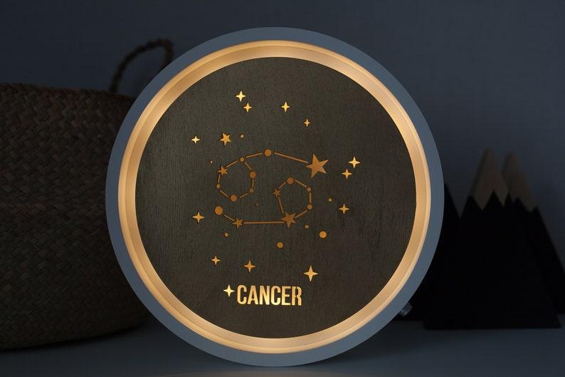 Celestial decor - Celestial wall art -Celestial lamp - Celestial night  light - Zodiac night light - Zodiac lamp - Zodiac gift - Zodiac sign