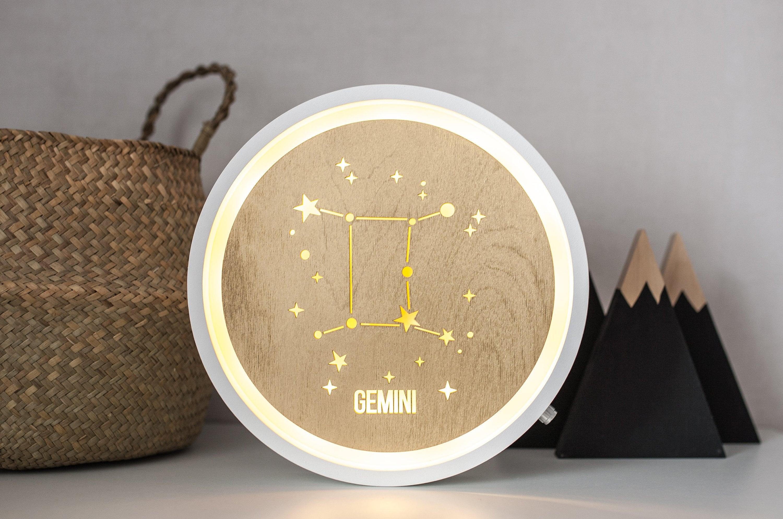 Celestial decor Gemini Celestial wall art Celestial lamp   Etsy