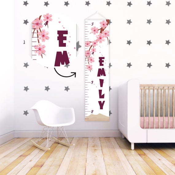 Kids Height Ruler Growth Chart Ruler Canvas Gift For Etsy