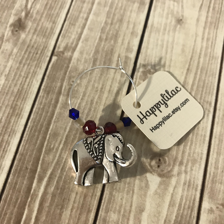 Elephant Wine Charm 1 Wine Charm Wine Charm Elephant Decor