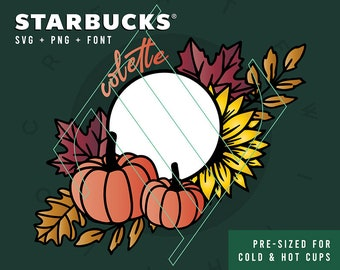 Fall Starbucks Cup Etsy