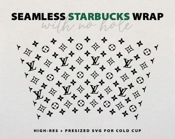 Seamless Lv Wrap Starbucks Wrap Starbucks Pattern Svg Png Etsy