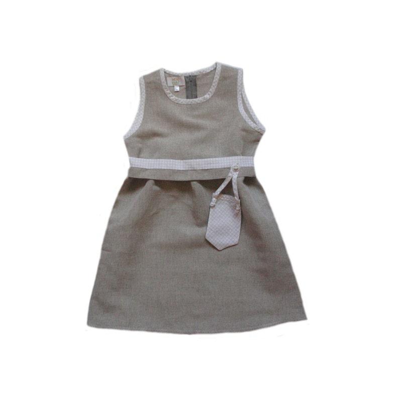 8b7e623286 Lniana sukienka dziewczyny Letnia sukienka i dziewczyny