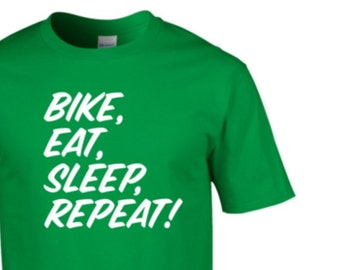 COL EAT SLEEP CYCLE REPEAT MENS T-SHIRT CYCLIST BIKE CYCLING GIFT PRESENT IDEA