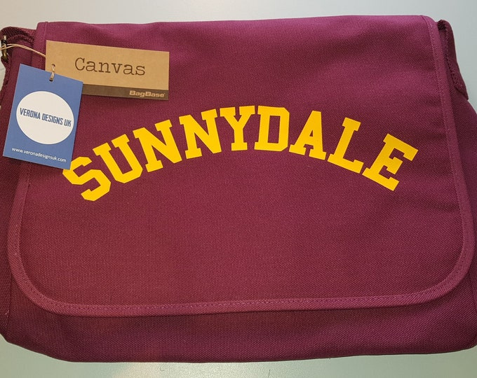 e5365c6419b7 Retro Sunnydale canvas messenger bag