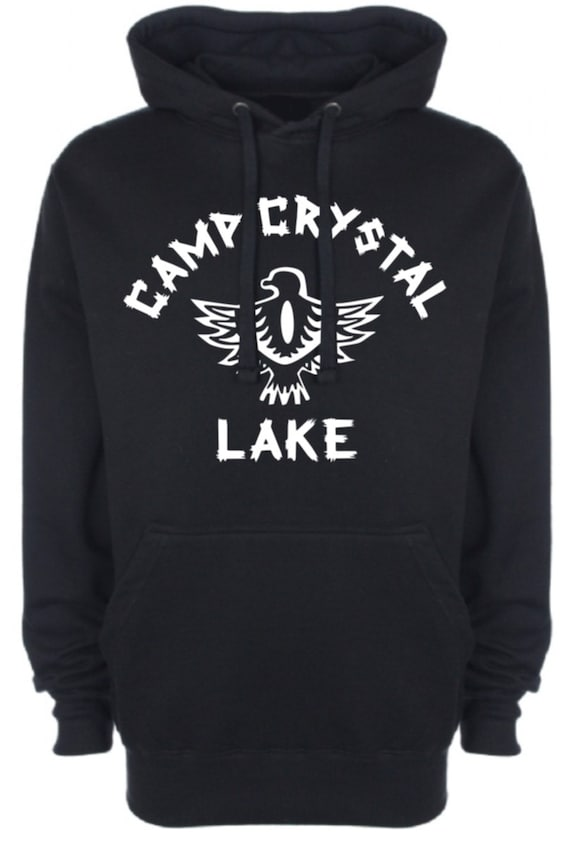Camp Crystal Lake Mens Womens Hoodie Vintage Retro Friday the 13th Teen Horror Movie Film College Halloween Costume, Gifts, NEW