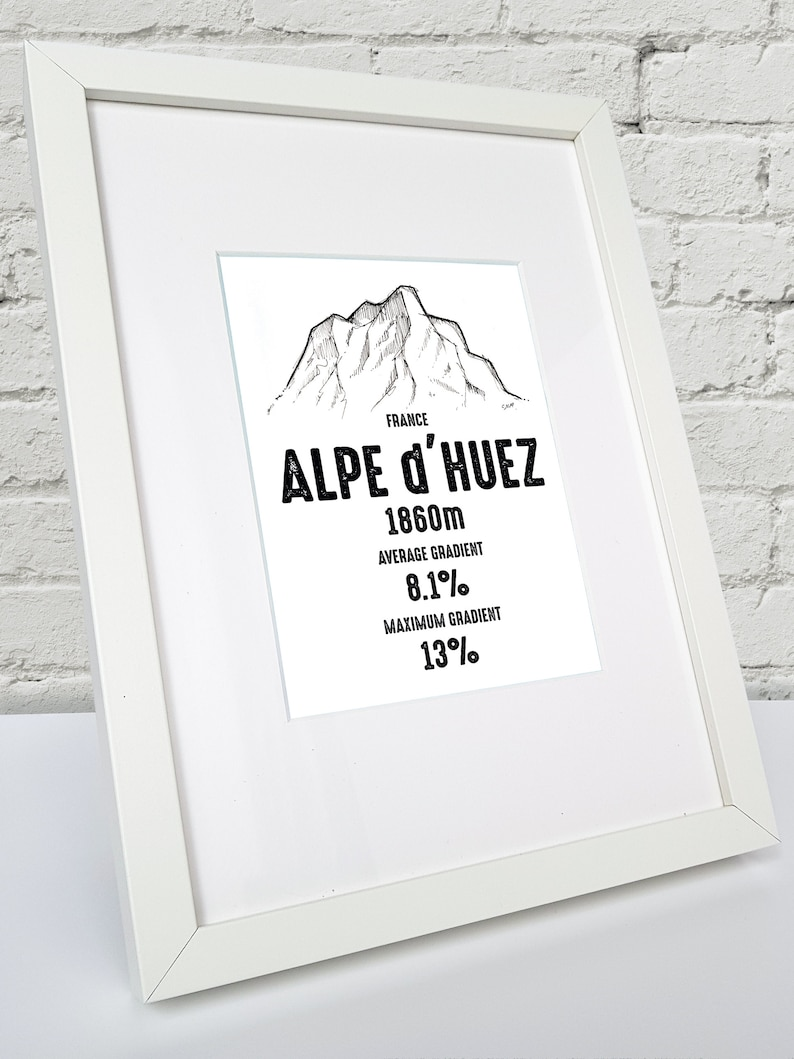 NEW TOUR DE FRANCE ROAD SIGN CYCLING CYCLE NOVELTY GIFT ALPE D/'HUEZ
