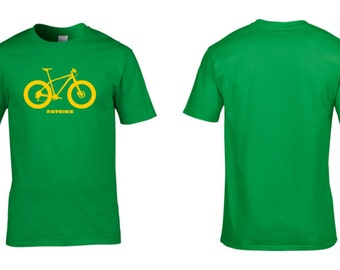 Mens, Cycling Tshirt, FATBIKE, Fat Bike, Men's, T-Shirt, Mountain Biking, Fat, Bike, Winter, Retro, Wheels, Cycling Clothing, NEW