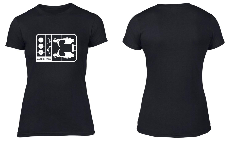 Vespa Airfix Model Parts, Women's T-Shirt, Retro, Lambretta