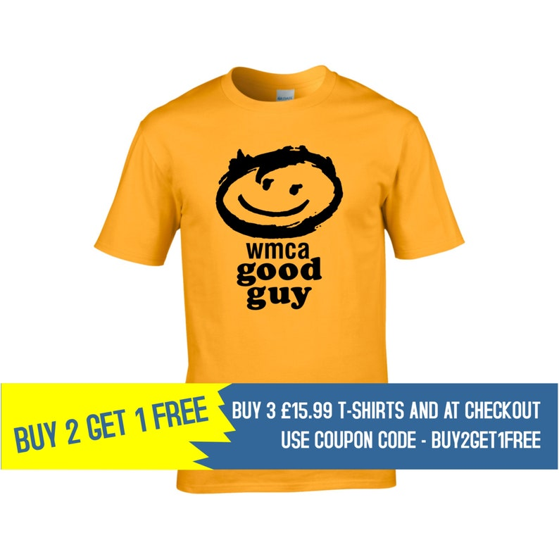 e416c7b43 WMCA Good Guys Men's T-Shirt Retro Buy 2 Get 1 Free | Etsy