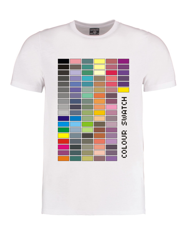 6260d1df Colour Swatch t-shirt, Colour chart t-shirt, Colour swatches ...